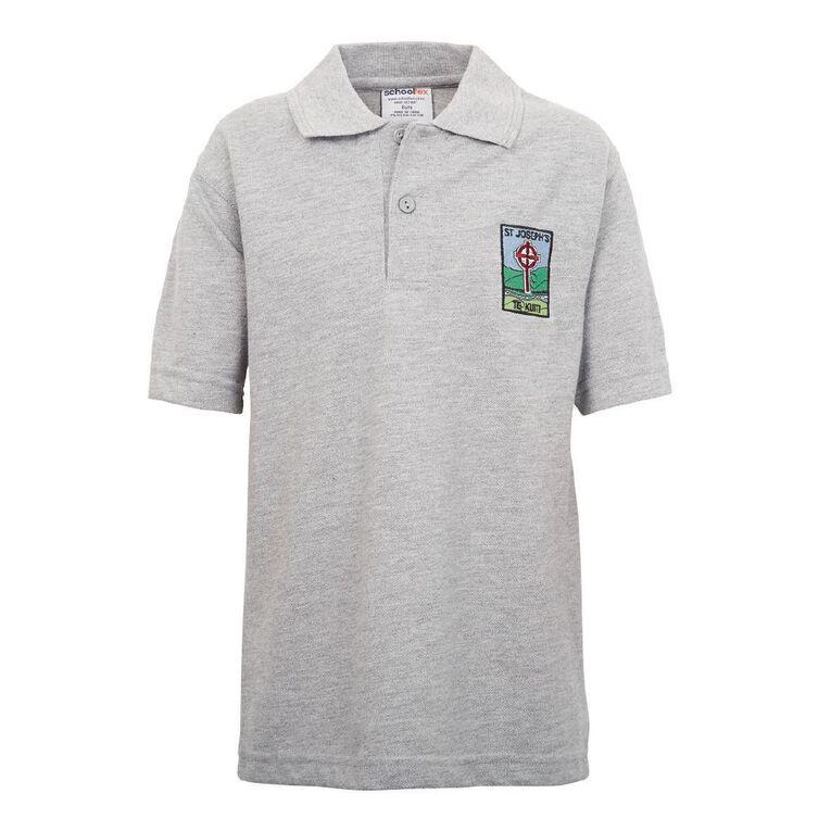Schooltex St Joseph's Te Kuiti Short Sleeve Polo, Grey Marle, hi-res