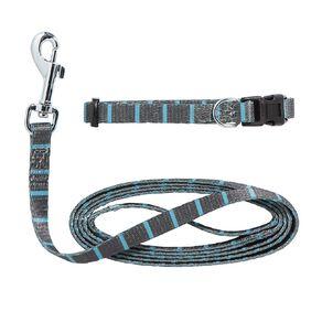 Petzone Puppy Lead Set Blue Stripe