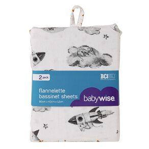Babywise Flannelette Bassinet Sheet 2 Pack