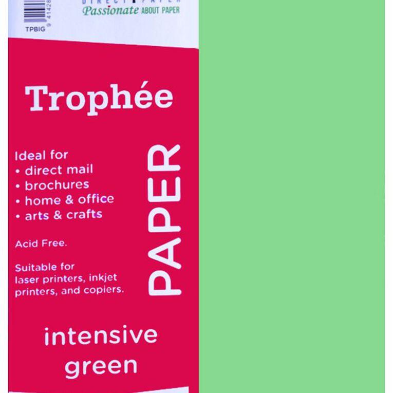 Trophee Paper 80gsm 100 Pack Intensive Green A4, , hi-res