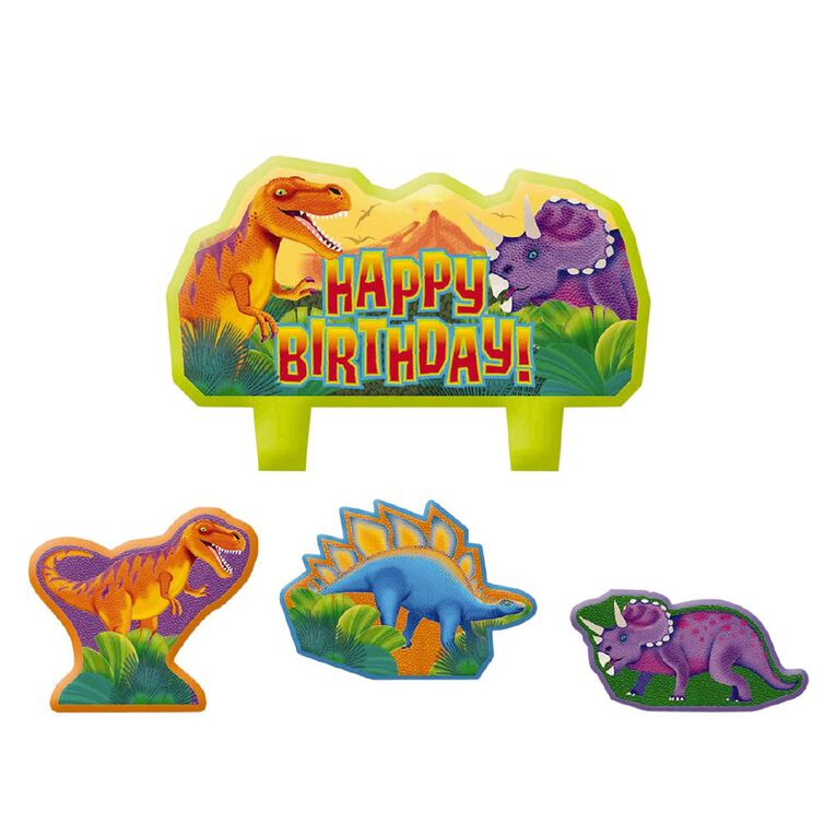 Amscan Prehistoric Party Birthday Candle Set 4 Pack, , hi-res