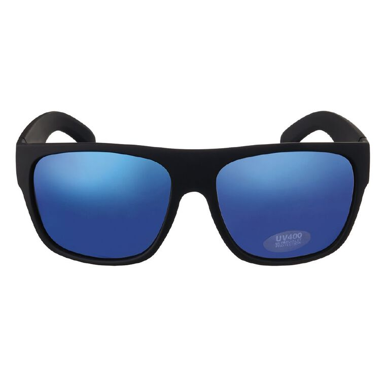 H&H Essentials Men's Mirror Sunglasses, Black, hi-res