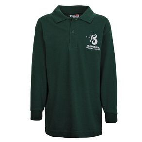 Schooltex Burnside Primary Long Sleeve Polo with Embroidery