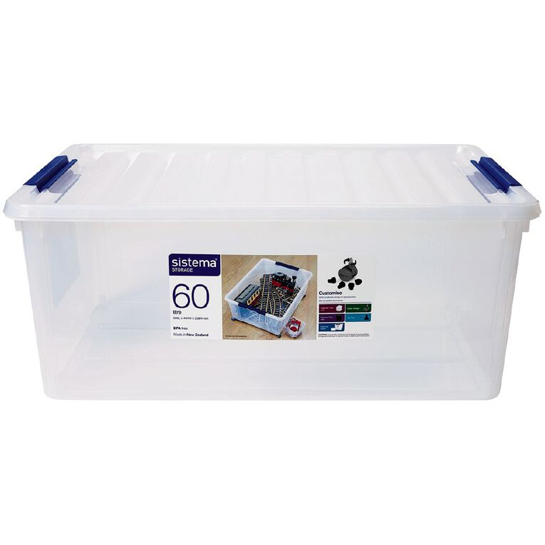 Sistema Storage Organiser Clear 60L, , hi-res