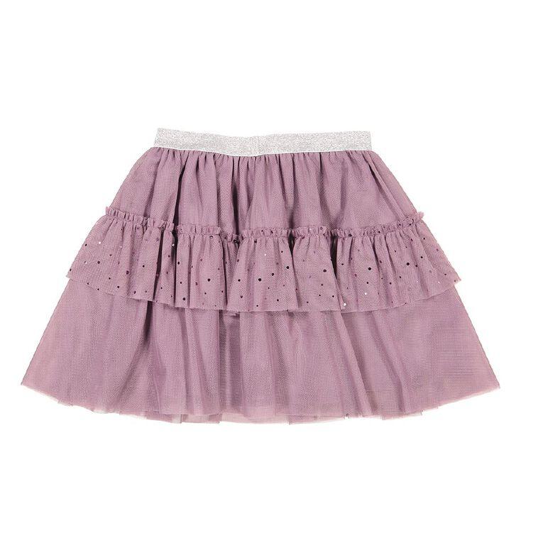 Young Original Tiered Sequin Skirt, Purple Mid, hi-res