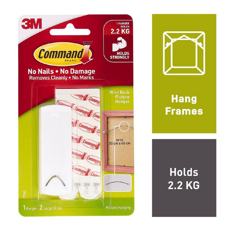 Command Wire-Backed Picture Hanger White, , hi-res