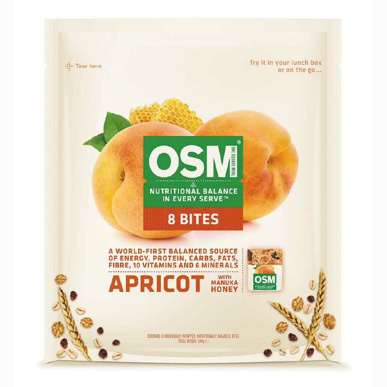 One Square Meal Apricot Bites 340g, , hi-res