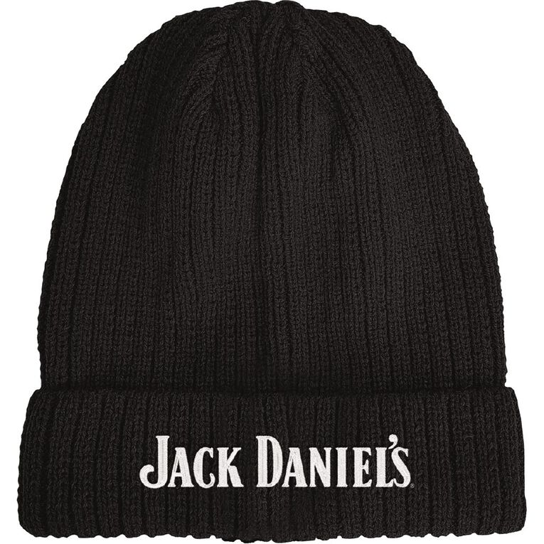 Jack Daniels Beanie, Black, hi-res