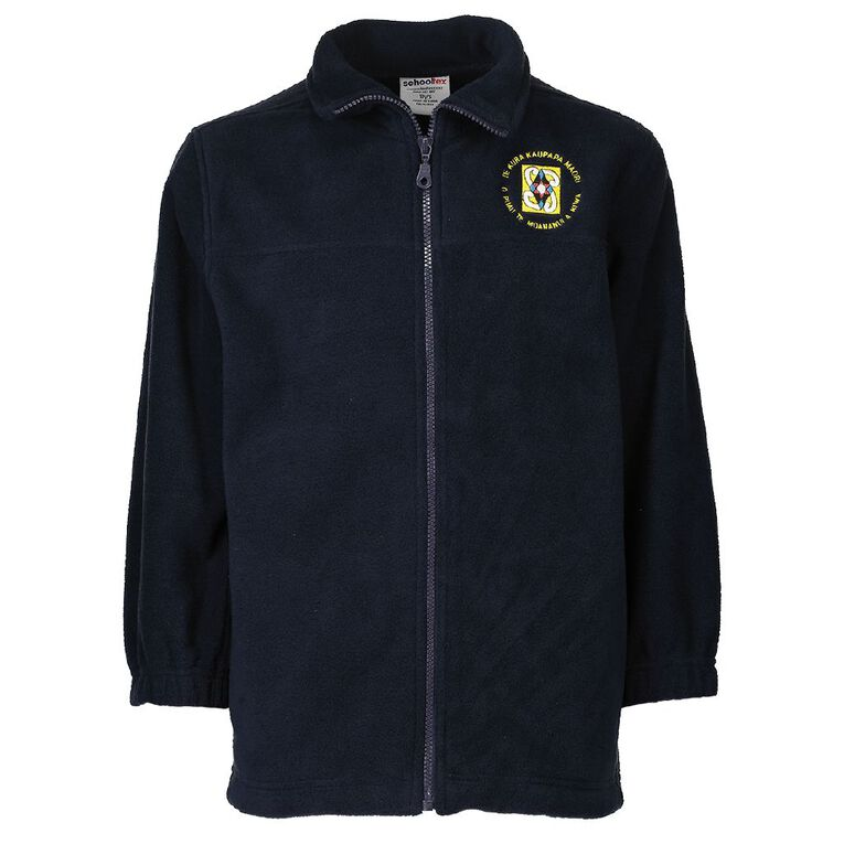 Schooltex TKKM O Puau Polar Fleece Jacket, Navy, hi-res