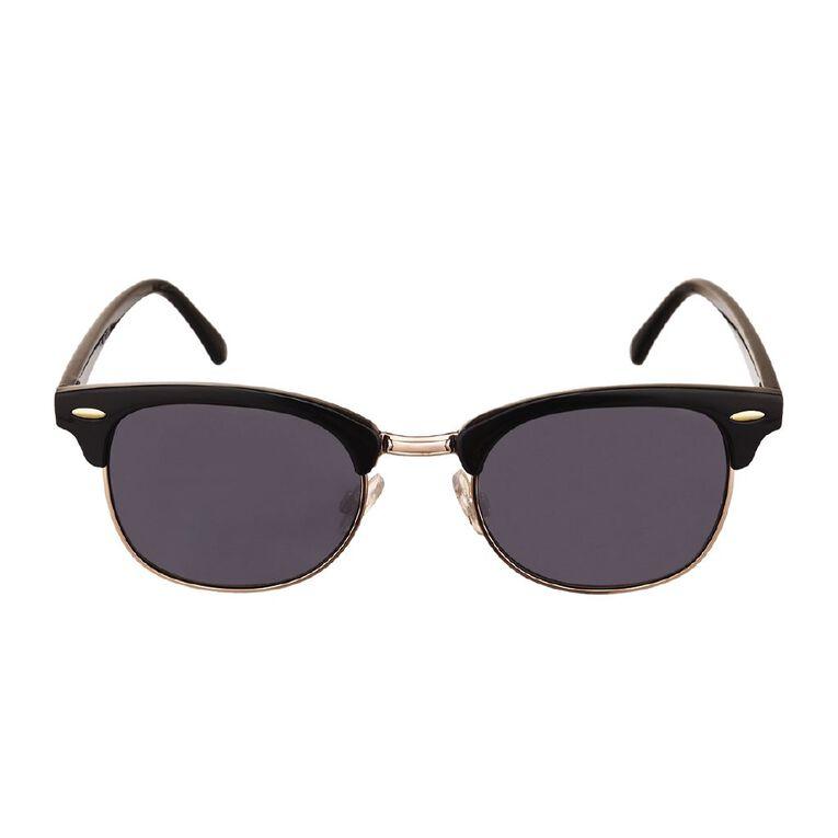 H&H Essentials Black Browline Sunglasses, Black, hi-res