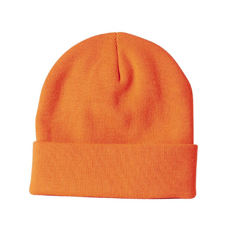 Rivet Thermal Beanie, Orange, hi-res