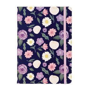 Uniti Blossom PU Notebook Hardcover Flowers Purple A5
