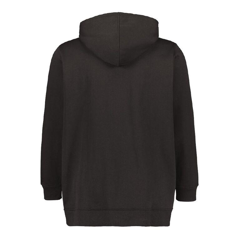 H&H Plus Women's Zip Thru Hoodie, Black, hi-res