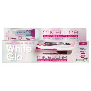 White Glo Micellar Toothpaste 150g