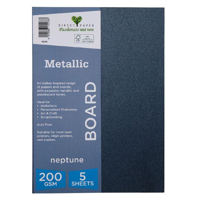 Direct Paper Metallic 200gsm 5 Pack Neptune A4, , hi-res