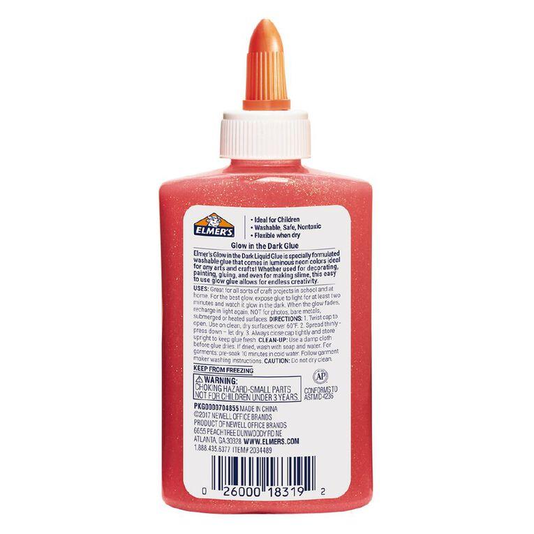 Elmer's Glow in the Dark Liquid Glue 147ml Pink, , hi-res