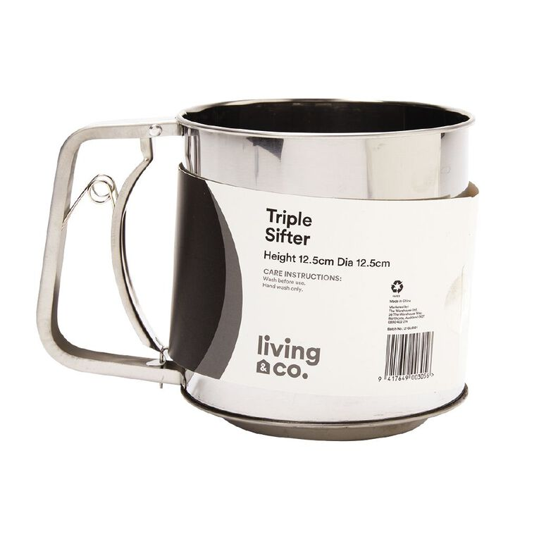 Living & Co Stainless Steel Triple Sifter, , hi-res