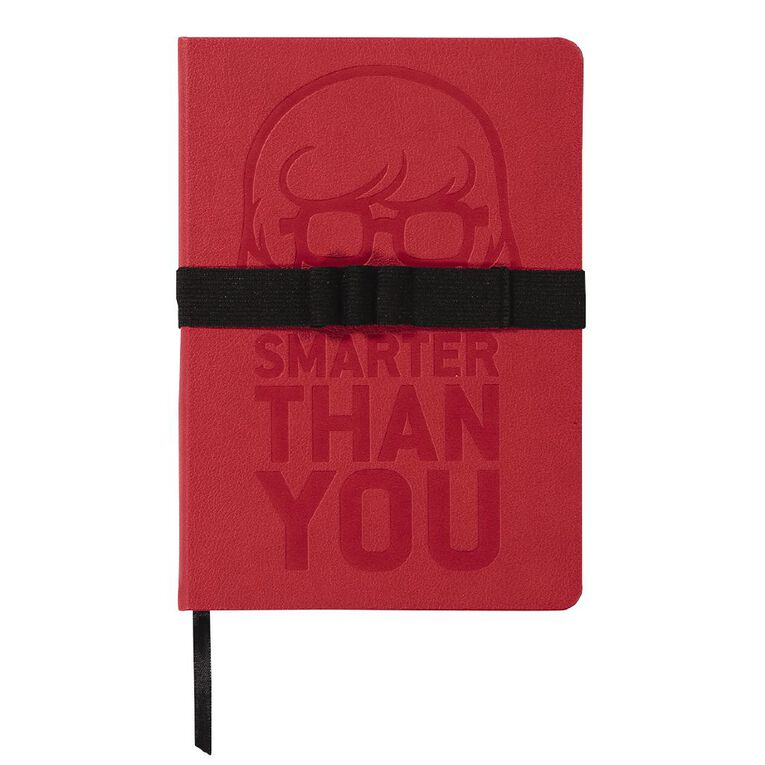Scooby Doo PU Notebook Debossed Wide Elastic With Loops Red A5, , hi-res