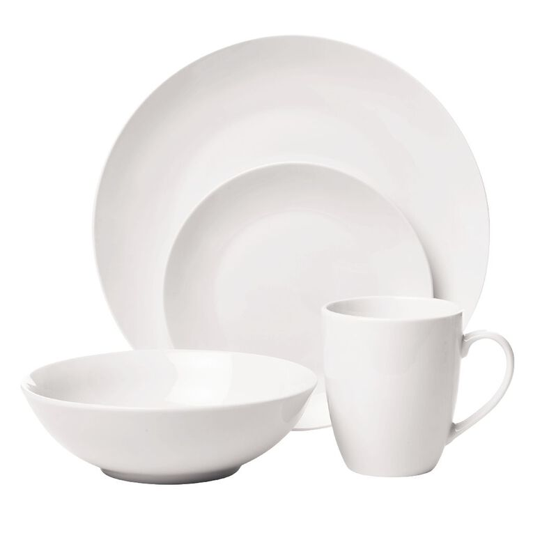 Living & Co Coupe Dinner Plate White 27cm, , hi-res