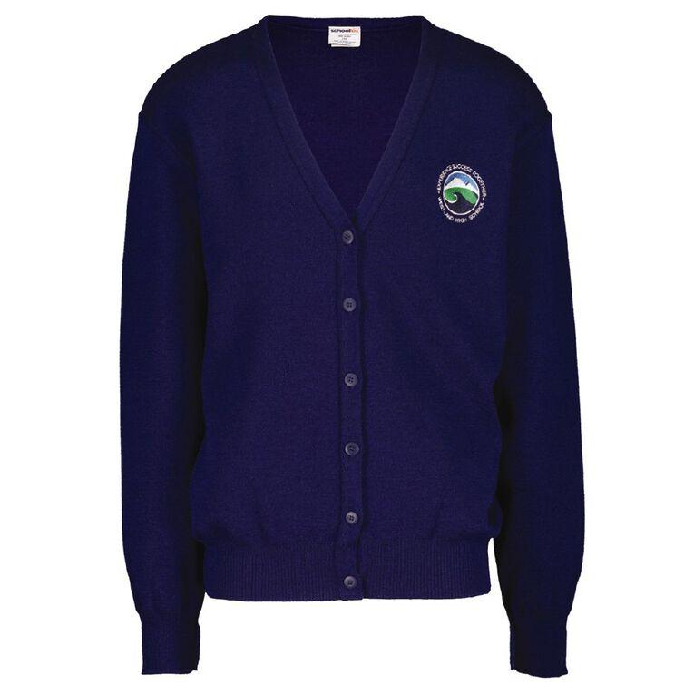 Schooltex Westland High Cardigan with Embroidery, Dark Royal, hi-res