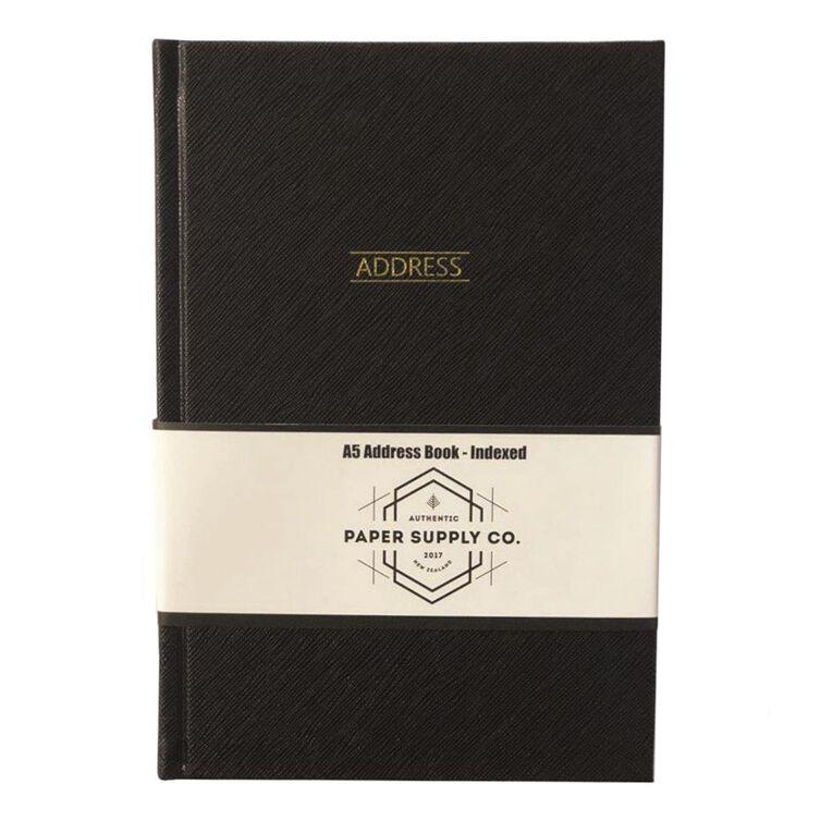Paper Co Citta Address Book Black A5, , hi-res