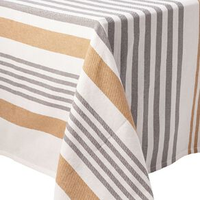Living & Co Table Cloth Yarn Dyed Cotton Mustard 150cm x 220cm