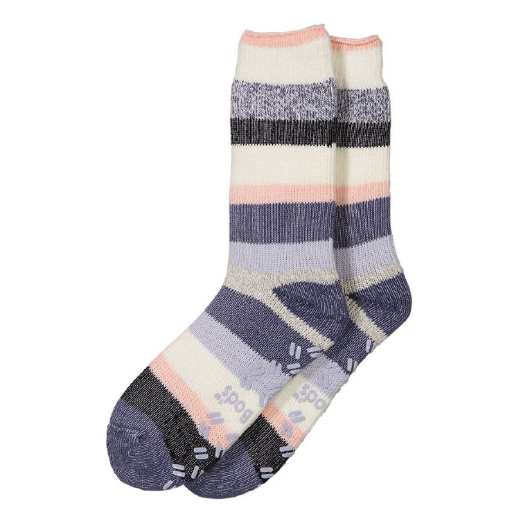 Underworks Women's Heatbods Socks 1 Pair, Blue Light, hi-res