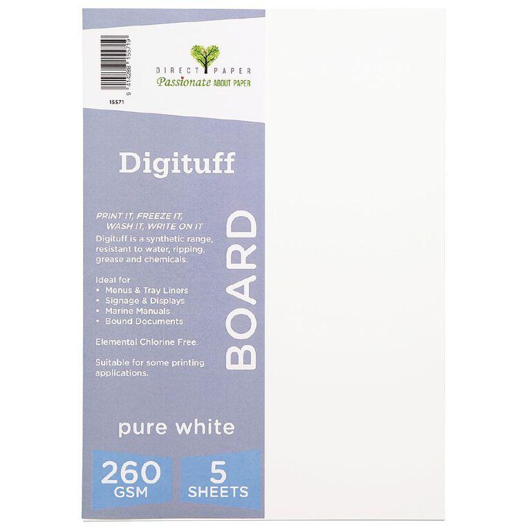 Direct Paper Digituff 260gsm 5 Pack Pure White A4, , hi-res