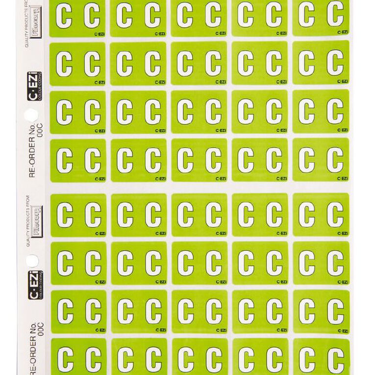 Filecorp Coloured Labels C Green, , hi-res