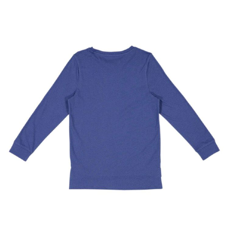 Young Original Long Sleeve Print Cuff Tee, Blue, hi-res