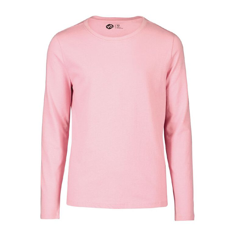 Young Original Plain Long Sleeve Tee, Pink Light, hi-res