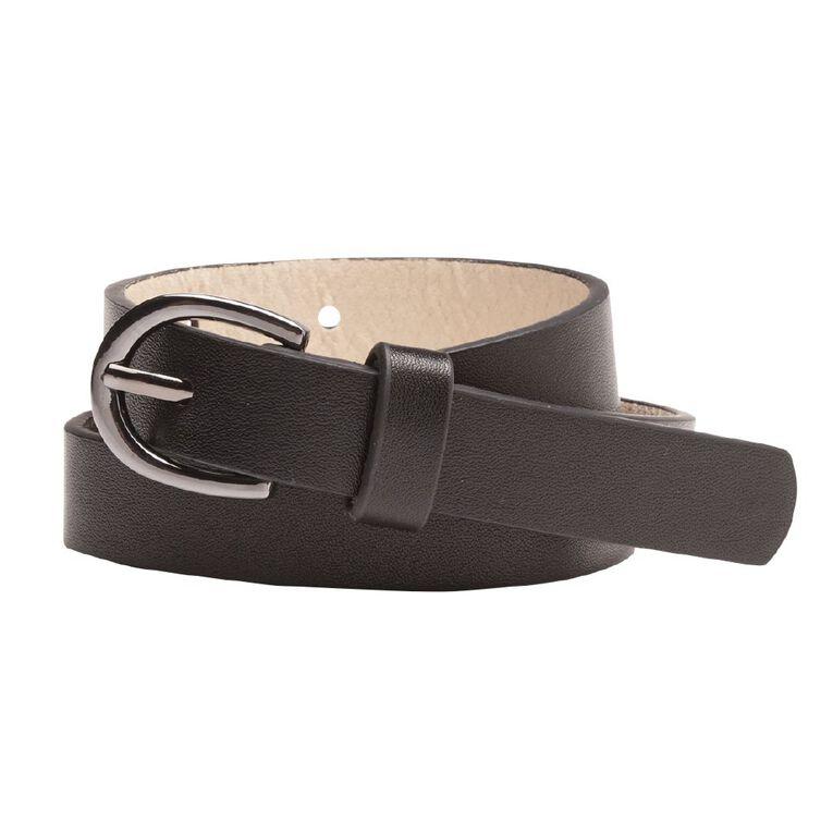H&H Women's Skinny Belt, Black, hi-res