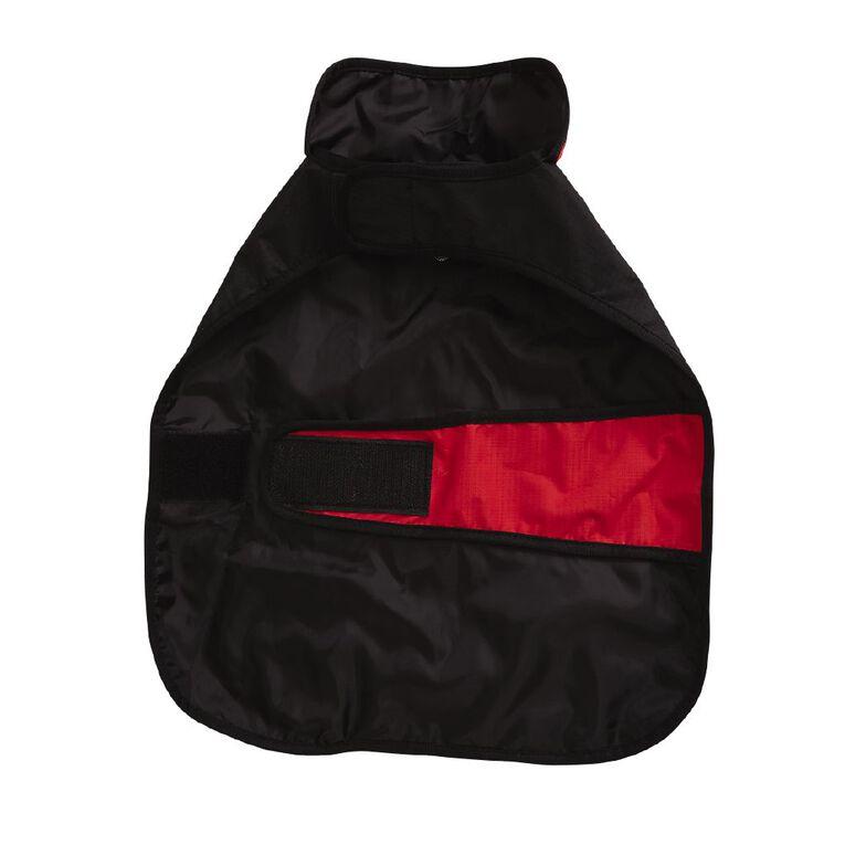 Simply Dog Red & Black Waterproof Wrap Jacket 2XL, , hi-res