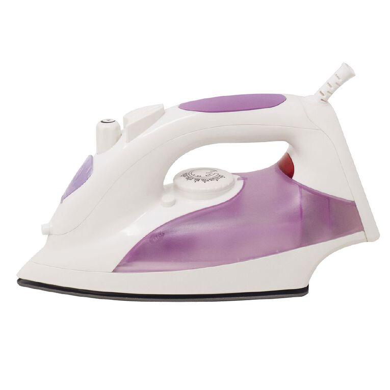 Living & Co Steam Iron 1800-2200W Purple, , hi-res