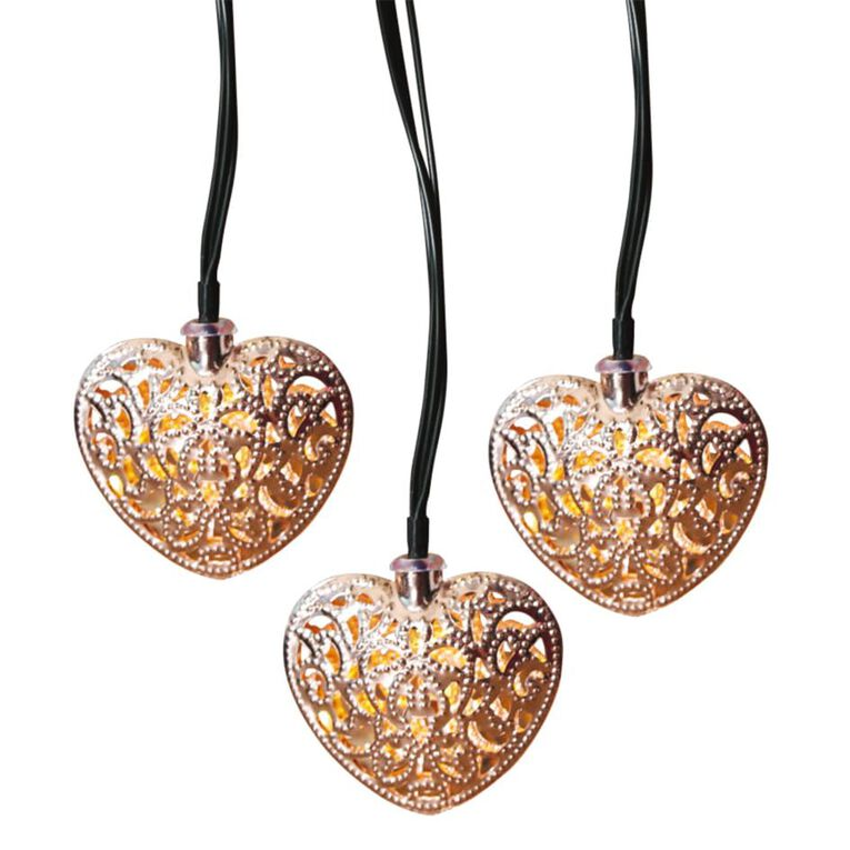 Kiwi Garden Solar Heart String Lights, , hi-res