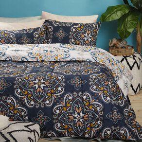 Living & Co Comforter Set 3 Piece Ambika Navy