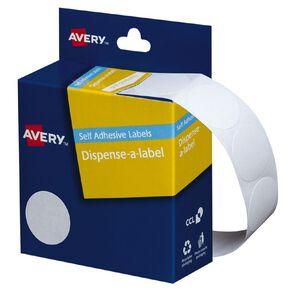 Avery White Dispenser Dot Stickers 24mm diameter 550 Labels Handwritable