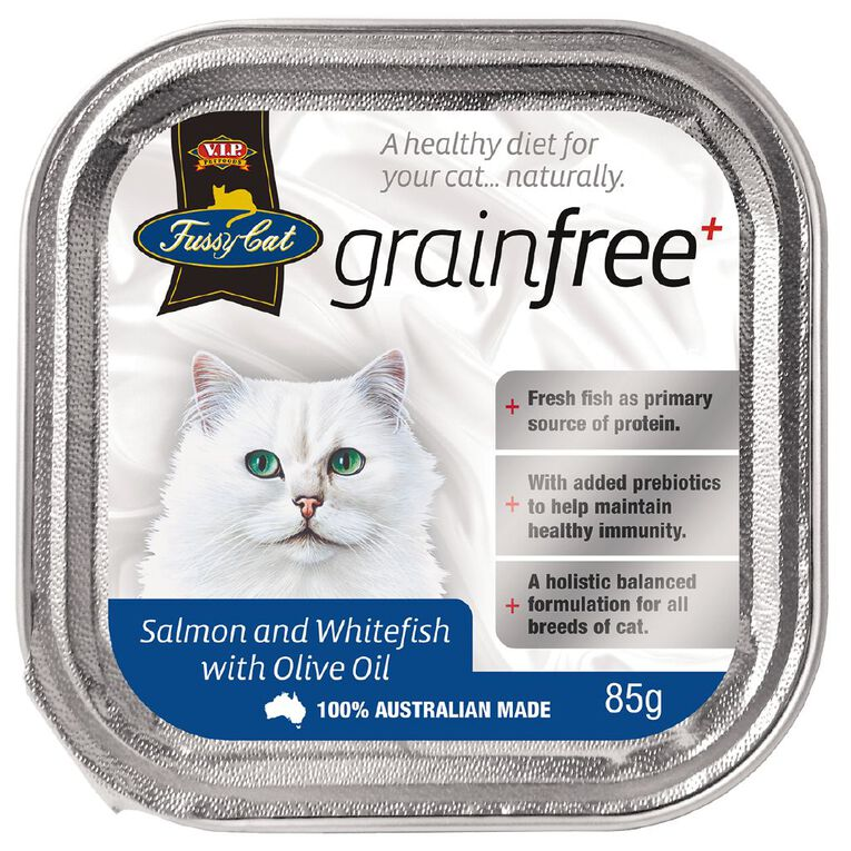 Fussy Cat Salmon & Whitefish with Olive Oil 85g, , hi-res