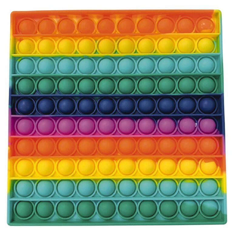 Fidget Pop-It Mega Rainbow Square, , hi-res