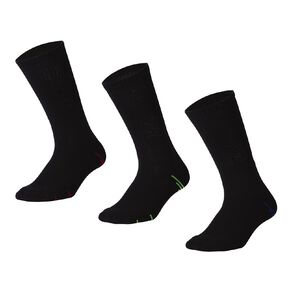 Active Intent Men's Crew Cushioned Sports Socks 3 Pack