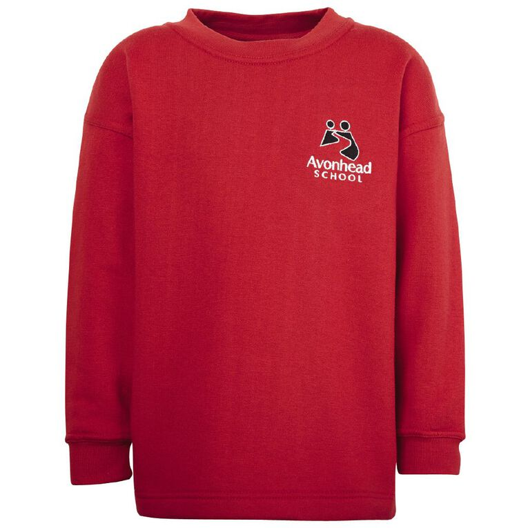 Schooltex Avonhead Crew Tunic with Embroidery, Red, hi-res