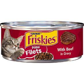 Friskies Prime Fillets Beef in Gravy Wet Cat Food 156g