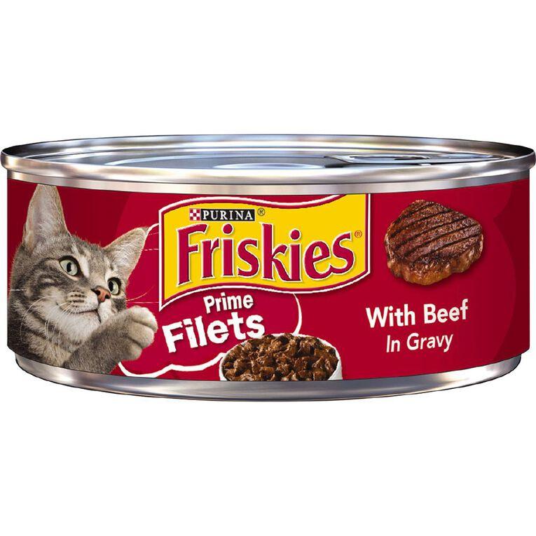 Friskies Prime Fillets Beef in Gravy Wet Cat Food 156g, , hi-res