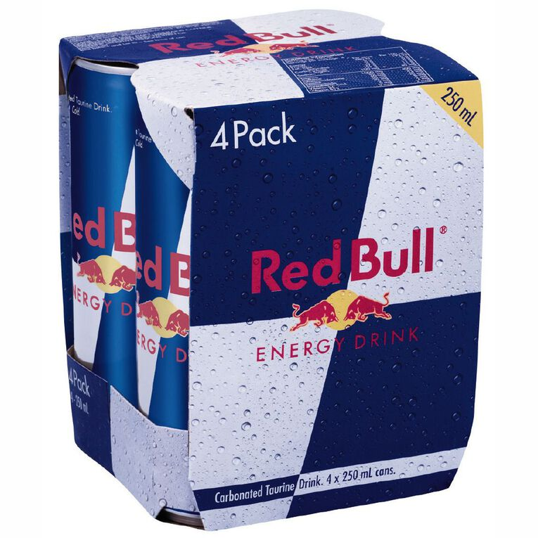 Red Bull Cans 250ml 4 Pack, , hi-res