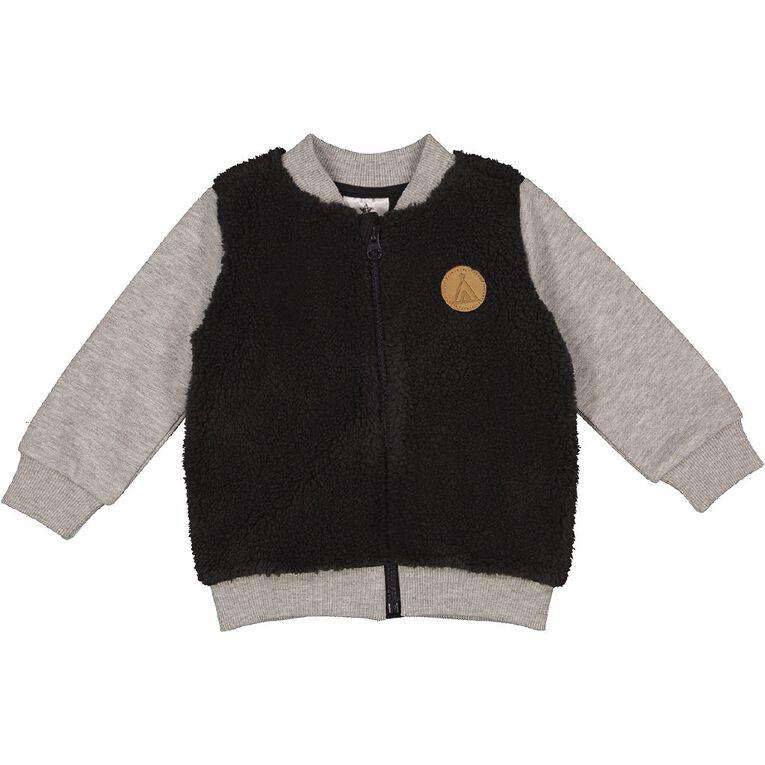 Young Original Baby Sherpa Bomber Jacket, Grey Dark, hi-res