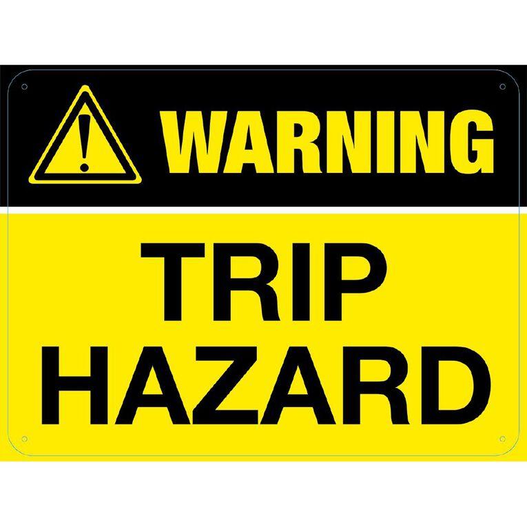 WS Warning Trip Hazard Sign Large 450mm x 600mm, , hi-res