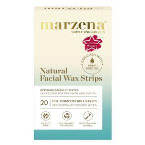 Marzena Natural Facial Wax Strips 20 Pack