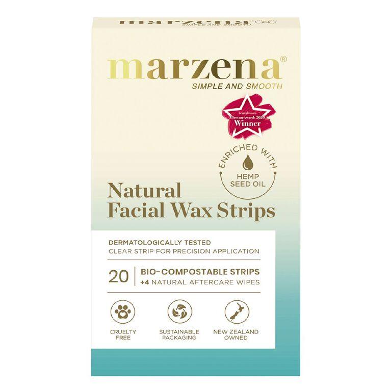 Marzena Natural Facial Wax Strips 20 Pack, , hi-res