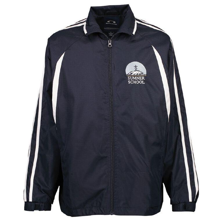 Schooltex Sumner School Senior Track Jacket with Embroidery, Navy/White, hi-res