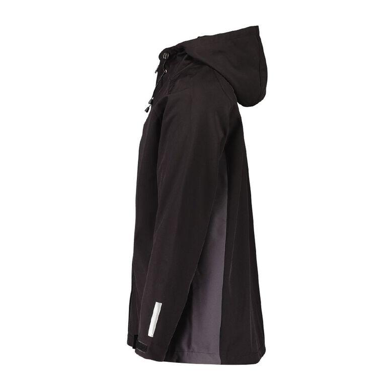 Active Intent Men's Raglan Bonded Fleece Jacket, Black, hi-res